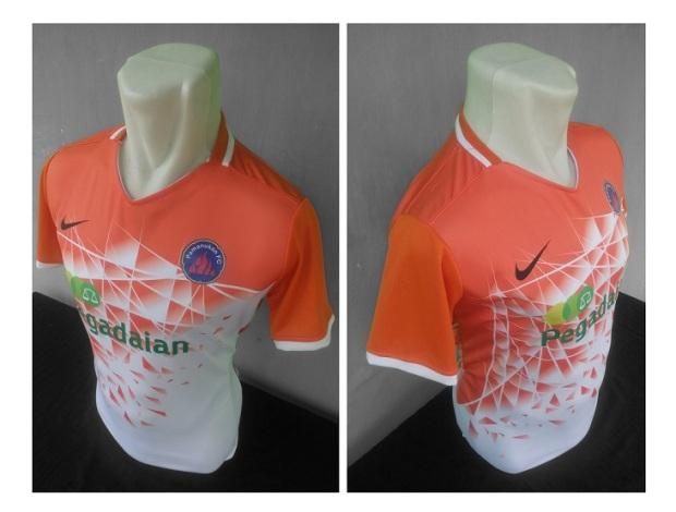 Jersey orange Pamanukan FC-buat jersey futsal.