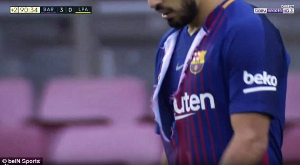 jersey sepak bola terbaru 2017 barcelona disobek suarez