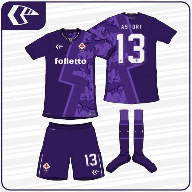 desain kostum futsal terbaik depan belakang fiorentina